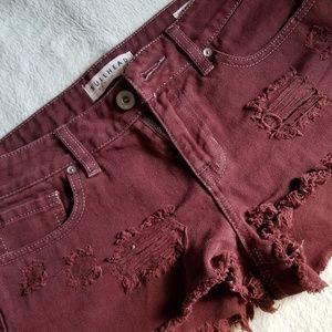 Maroon Bullhead Shorts